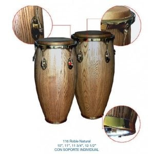 "CONGAS ""STRONG"" 11 3/4""+ 12 1/2"" ROBLE NATURAL"