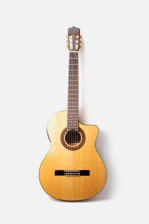 Guitarra flamenca amplificada jose gomez f80eq cipres