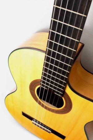 Guitarra Flamenca Cipres Amplificada Maciza Pro José Gómez F90-EQ