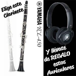 Clarinete Yamaha YCL 450 Llaves Plateadas