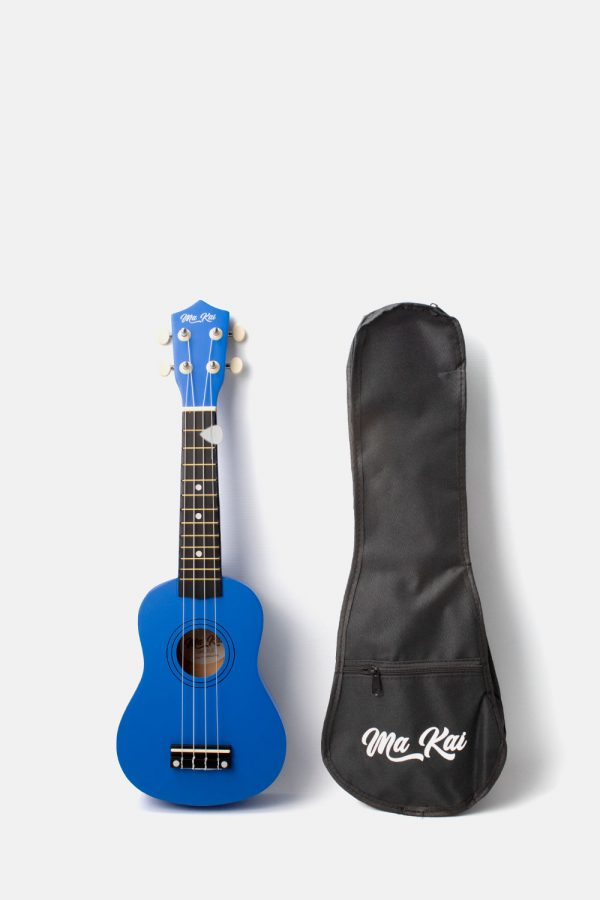 Pack ukelele azul oscuro makai soprano