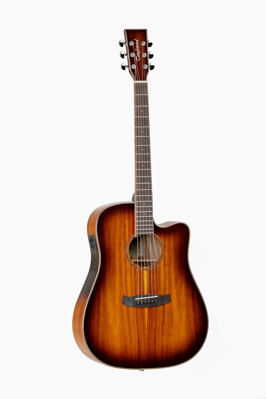 Guitarra acustica amplificada dreadnought cutaway tanglewood