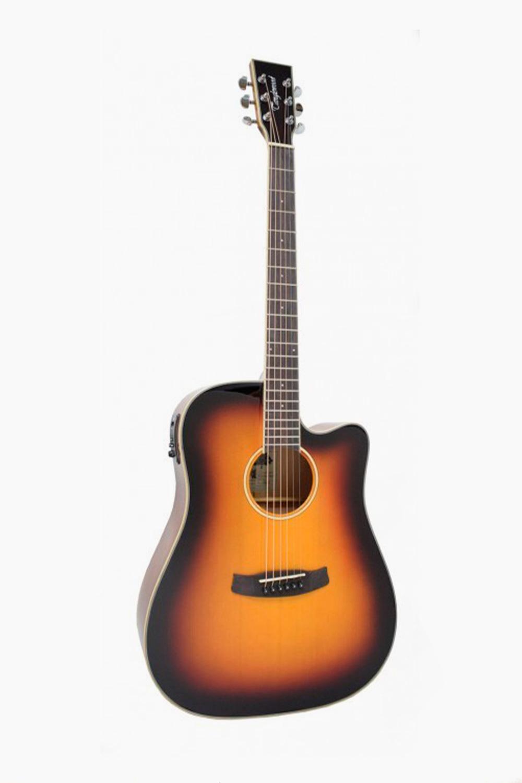 Guitarra acustica amplificada sombreado