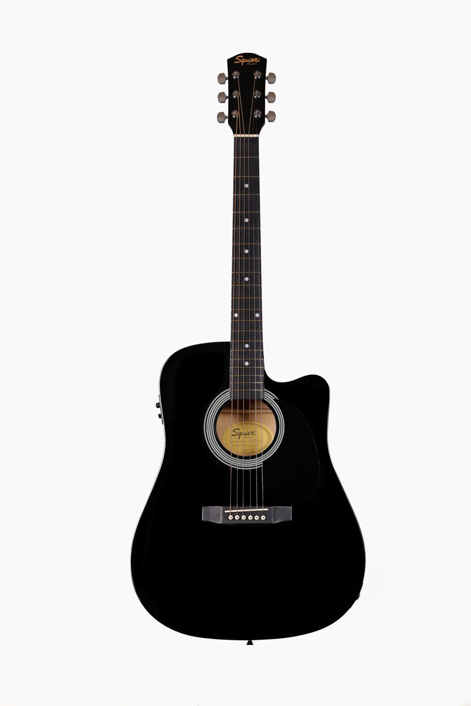 Guitarra electroacustica fender Squier Negra
