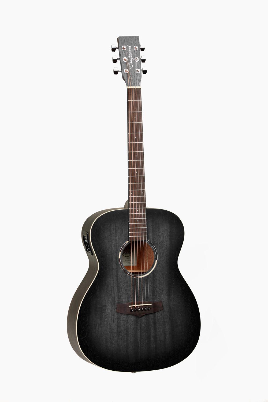 Guitarra Acustica Electrificada Negra Tanglewood