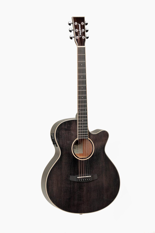 Guitarra Acustica Amplificada Cutaway Negra Tanglewood