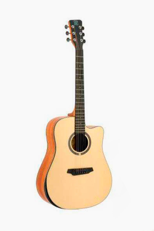 Guitarra Tapa maciza mate natural acústica oqan