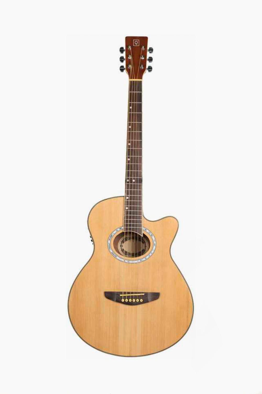 Guitarra Acústica amplificada natural cutaway oqan