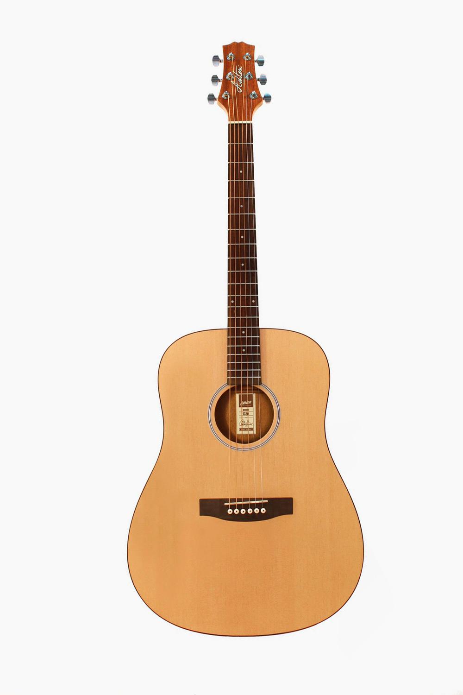 Guitarra acustica mate natural asthon