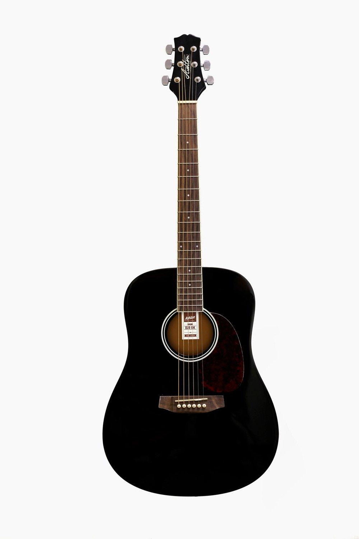 Guitarra acústica negra asthon