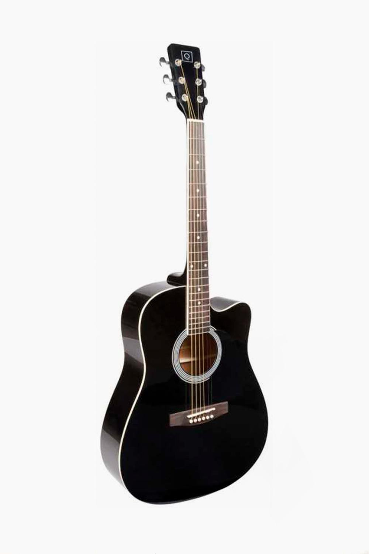 Guitarra acústica Cutaway negra Oqan