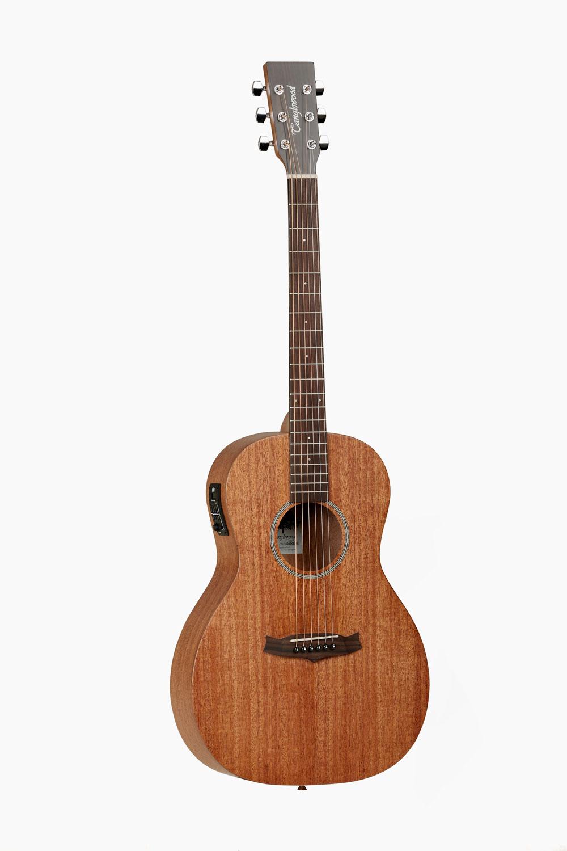 Guitarra acustica amplificada parlour