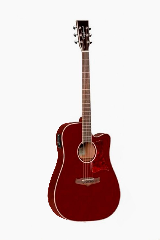 Guitarra Acustica Roja Amplificada Tanglewood