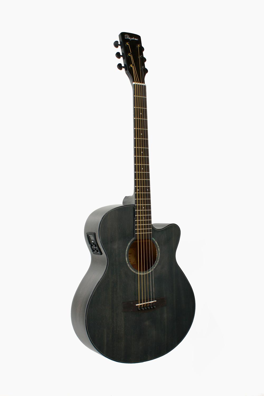 Guitarra Amplificada Acustica Negra Cutaway Negra