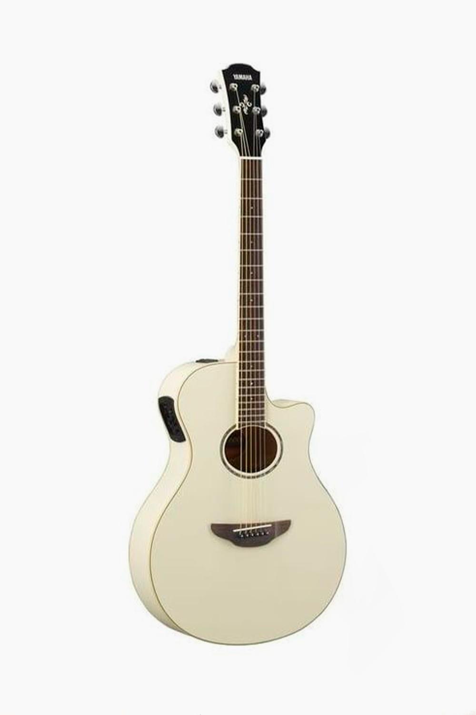 Guitarra electroacustica blanca yamaha apx600 vw