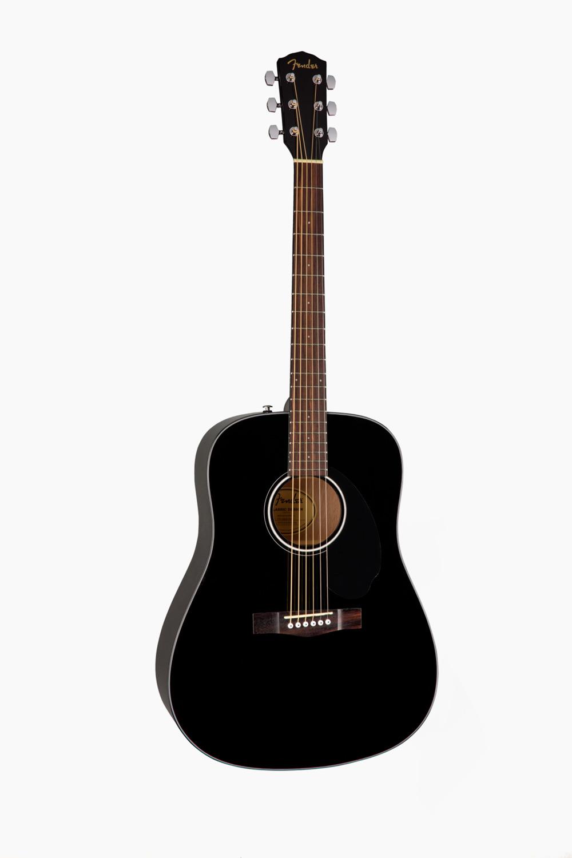 Guitarra acustica negra fender cd60s