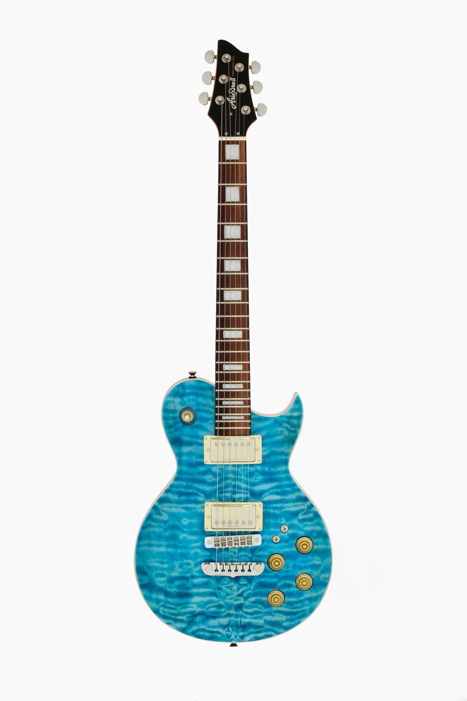 Guitarra eléctrica aria royale azul