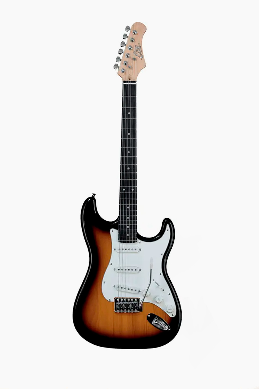 Guitarra eléctrica sunburst eko strato s300