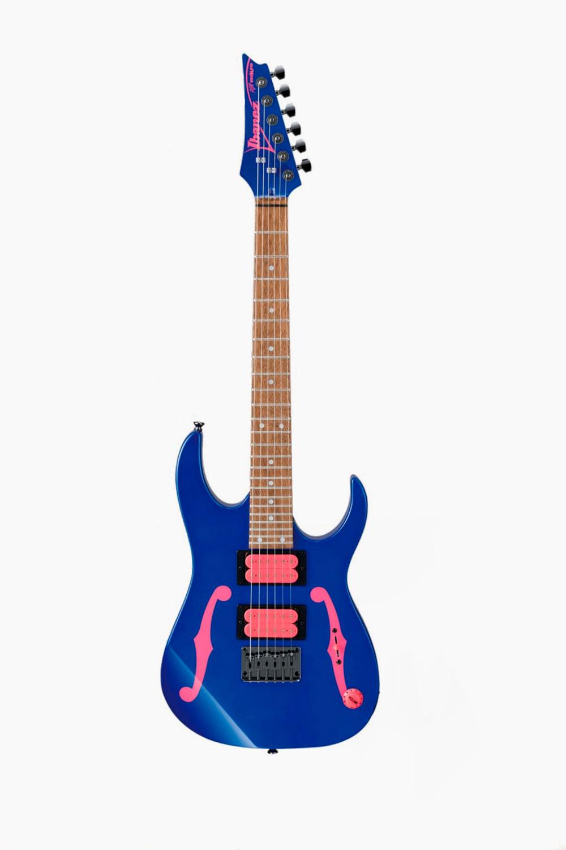 Guitarra eléctrica ibanez stratocaster azul y rosa