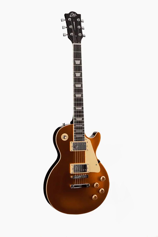 Guitarra electrica dorada eko lespaul 480