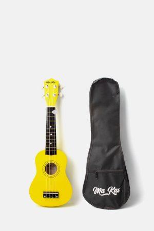 Pack ukelele makai amarillo soprano
