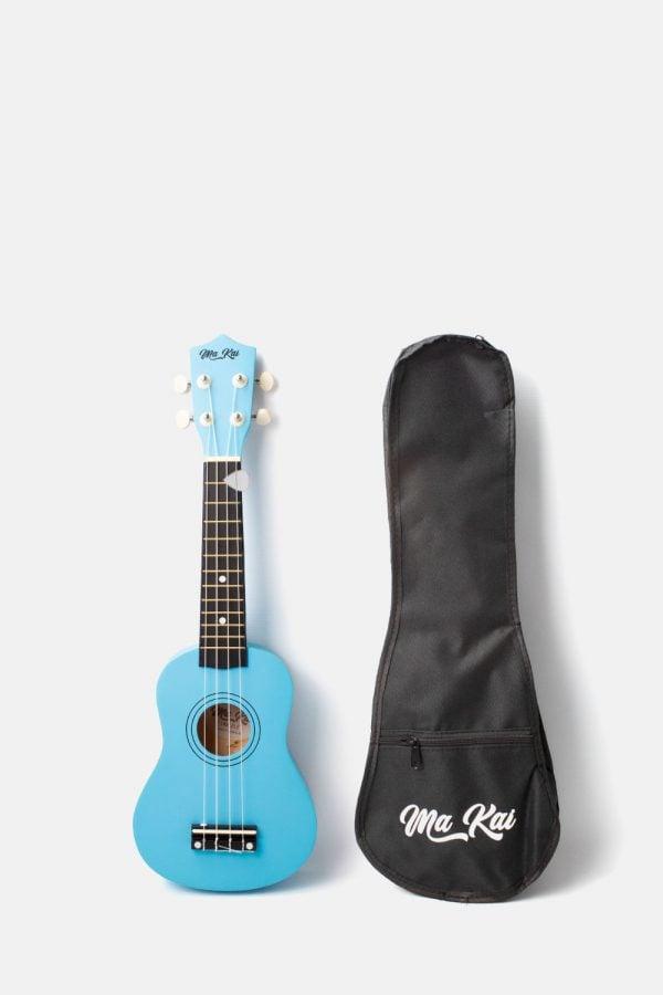 Pack ukelele soprano azul claro makai