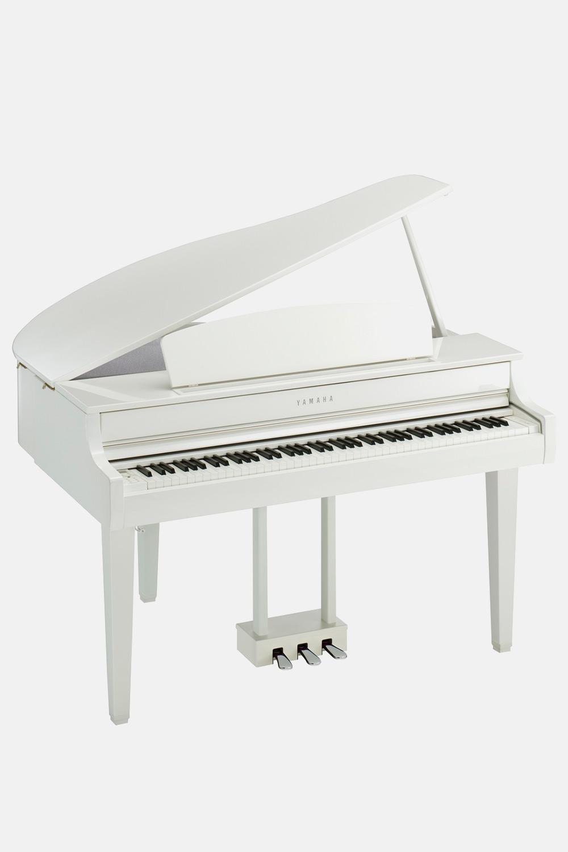 Piano de cola blanco pulido yamaha clavinova clp765GPWH