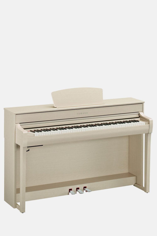 Piano yamaha clavinova clp735 blanco nogal