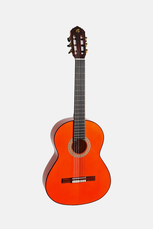 Guitarra flamenca naranja hermanos bros b40f